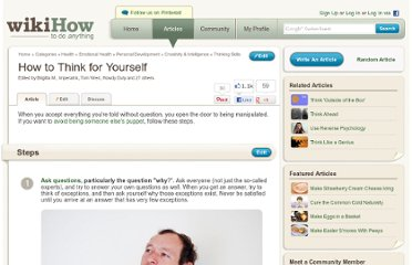 http://www.wikihow.com/Think-for-Yourself