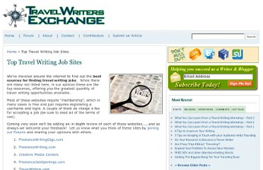 http://www.travel-writers-exchange.com/travel-writer-jobs/top-travel-writing-job-sites/