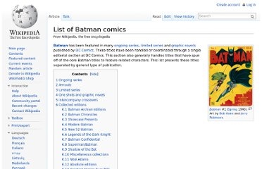 http://en.wikipedia.org/wiki/List_of_Batman_comics#Collected_editions