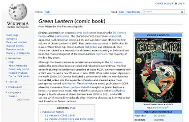 http://en.wikipedia.org/wiki/Green_Lantern_(comic_book)