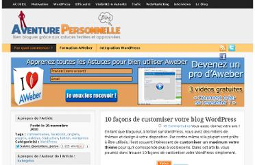 http://aventure-personnelle.net/10-facons-de-customiser-votre-blog-wordpress/