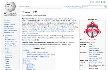 http://en.wikipedia.org/wiki/Toronto_FC#Players_and_staff