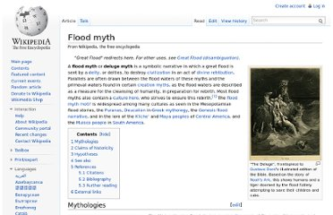 http://en.wikipedia.org/wiki/Flood_myth