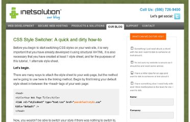 http://www.inetsolution.com/turnleft/post/CSS-Style-Switcher-A-quick-and-dirty-how-to.aspx
