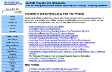 http://www.thesitewizard.com/revenue/index.shtml
