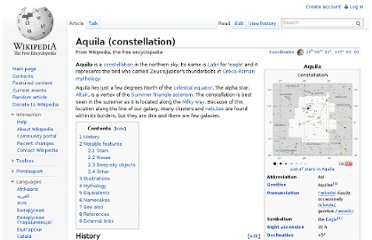 http://en.wikipedia.org/wiki/Aquila_(constellation)