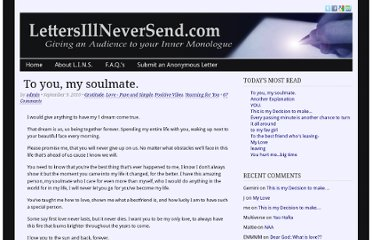 http://lettersillneversend.com/2010/09/09/to-you-my-soulmate/