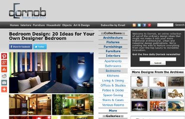 http://dornob.com/bedroom-design-20-ideas-for-your-own-designer-bedroom/