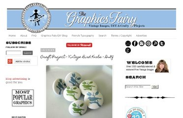 http://graphicsfairy.blogspot.com/2009/10/craft-project-vintage-bird-knobs.html