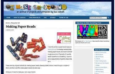 http://gomakesomething.com/ht/recycled/paper-beads/