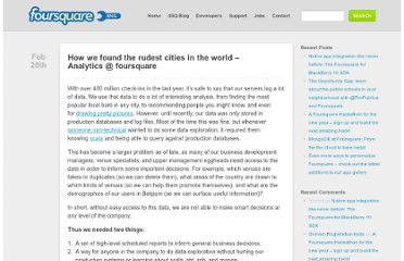 http://engineering.foursquare.com/2011/02/28/how-we-found-the-rudest-cities-in-the-world-analytics-foursquare/