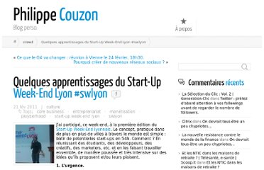 http://philippe-couzon.com/2011/02/21/quelques-apprentissages-du-start-up-week-end-lyon-swlyon/