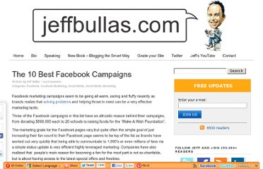 http://www.jeffbullas.com/2011/03/01/the-10-best-facebook-campaigns/