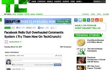 http://techcrunch.com/2011/03/01/facebook-rolls-out-overhauled-comments-system-try-them-now-on-techcrunch/