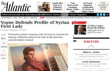 http://www.theatlantic.com/international/archive/2011/02/vogue-defends-profile-of-syrian-first-lady/71764/