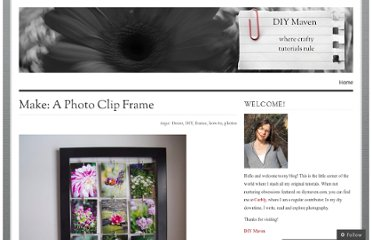 http://diymaven.com/2011/01/27/make-a-photo-clip-frame/