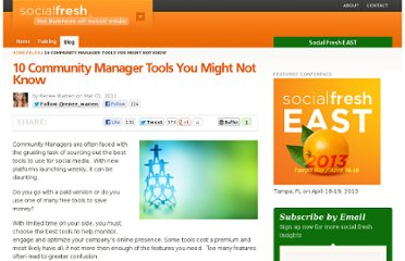 http://socialfresh.com/10-community-manager-tools-you-might-not-know/