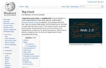 http://en.wikipedia.org/wiki/Tag_cloud