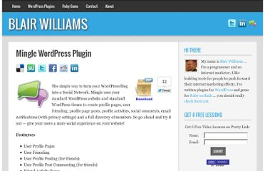 http://blairwilliams.com/mingle-wordpress-plugin/
