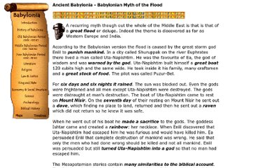 http://www.bible-history.com/babylonia/BabyloniaBabylonian_Myth_of_the_Flood.htm