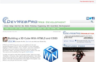 http://www.devwebpro.com/building-a-3d-cube-with-html5-and-css3/