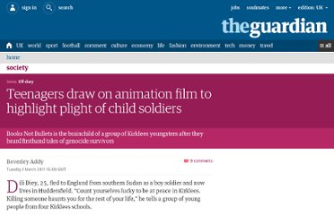 http://www.guardian.co.uk/society/2011/mar/01/kirklees-untold-stories-books-bullets-animation