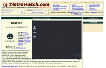 http://distrowatch.com/table.php?distribution=sabayon