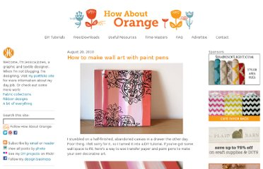 http://howaboutorange.blogspot.com/2010/08/how-to-make-wall-art-with-paint-pens.html