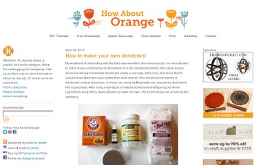 http://howaboutorange.blogspot.com/2010/04/how-to-make-your-own-deodorant.html