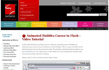 http://www.entheosweb.com/Flash/video_tutorials/animated_bubbles_cursor.asp