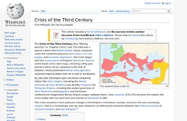 http://en.wikipedia.org/wiki/Crisis_of_the_Third_Century