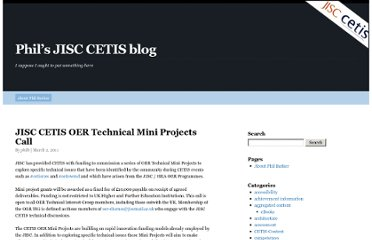http://blogs.cetis.ac.uk/philb/2011/03/02/jisc-cetis-oer-technical-mini-projects-call/