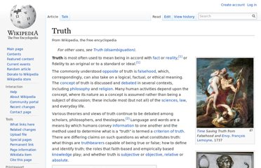http://en.wikipedia.org/wiki/Truth