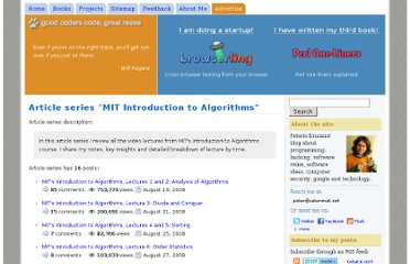 http://www.catonmat.net/series/mit-introduction-to-algorithms
