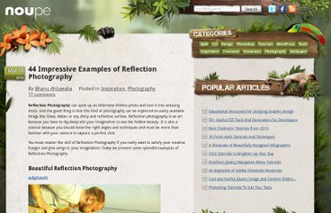 http://www.noupe.com/photography/44-impressive-examples-of-reflection-photography.html