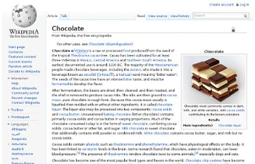 http://en.wikipedia.org/wiki/Chocolate