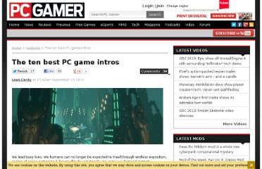 http://www.pcgamer.com/2010/09/19/the-ten-best-pc-game-intros/