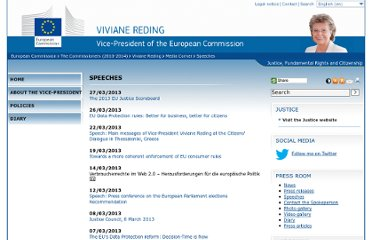 http://ec.europa.eu/commission_2010-2014/reding/multimedia/speeches/index_en.htm
