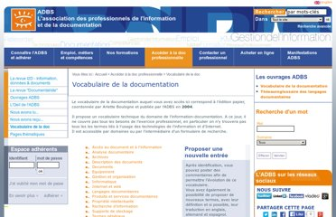 http://www.adbs.fr/vocabulaire-de-la-documentation-41820.htm?RH=R1_GUIDESOUTILS&RF=OUTILS_VOC