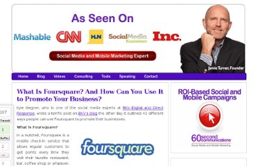 http://60secondmarketer.com/blog/2010/08/23/what-is-foursquare-and-how-can-you-use-it-to-promote-your-business/