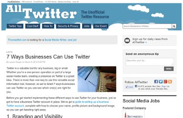 http://www.mediabistro.com/alltwitter/7-ways-businesses-can-use-twitter_b3994