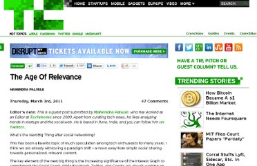 http://techcrunch.com/2011/03/03/the-age-of-relevance/