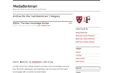 http://blogs.law.harvard.edu/mediaberkman/category/radioberkman/