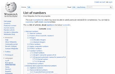 http://en.wikipedia.org/wiki/List_of_numbers