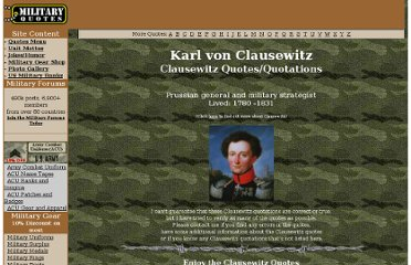 http://www.military-quotes.com/Clausewitz.htm