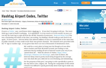 http://activerain.com/blogsview/1974207/hashtag-airport-codes-twitter