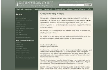 http://www.warren-wilson.edu/~creativewriting/Prompts.php