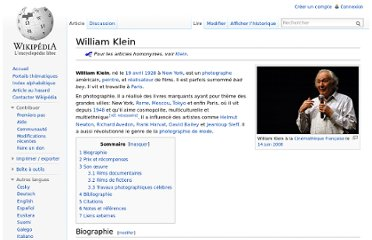 http://fr.wikipedia.org/wiki/William_Klein