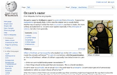 http://simple.wikipedia.org/wiki/Occam%27s_razor