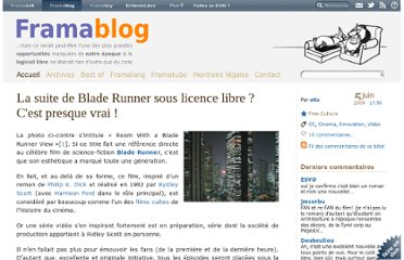 http://www.framablog.org/index.php/post/2009/06/05/blade-runner-licence-libre-creative-commons